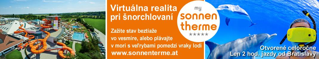 Virtuálna realita pri šnorchlovaní - Sonnentherme