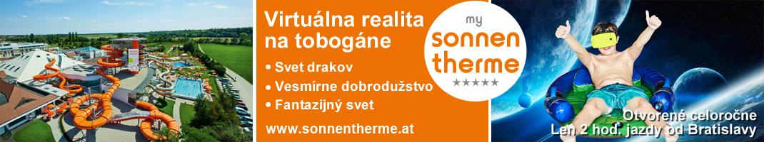 Virtuálna realita na tobogáne - Sonnentherme